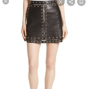Alice + Olivia Riley studded leather skirt